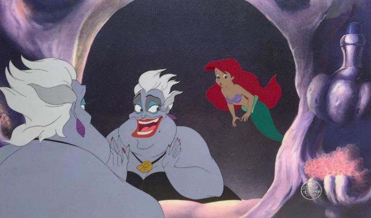 Escena de La Sirenita, 1989, Ariel y Úrsula. Foto: Disney Studios