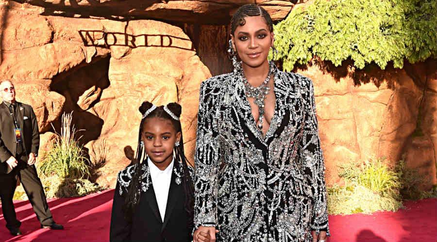 Blue Ivy Carter y Beyoncé. Foto: Getty Images