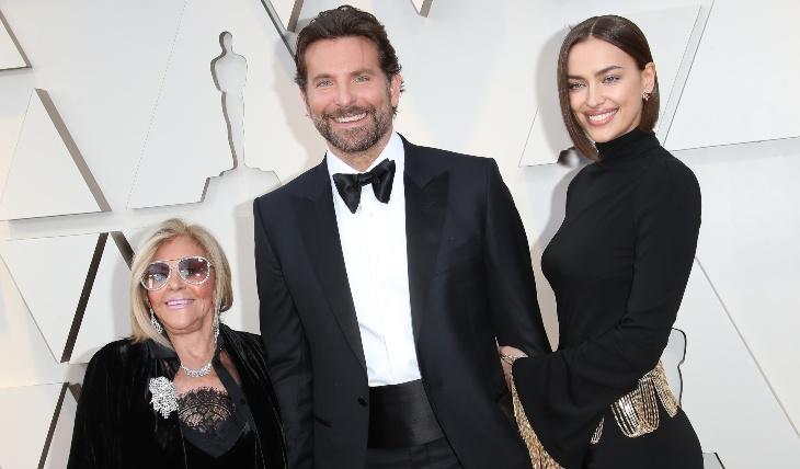 Gloria Campano, Bradley Cooper e Irina Shayk. foto: Getty Images