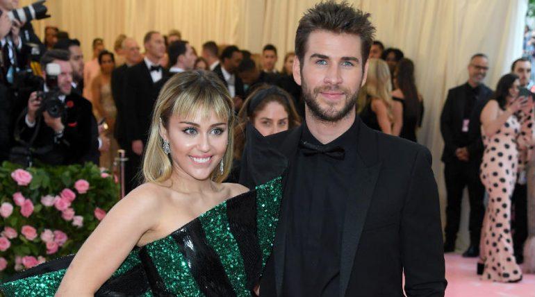 Miley Cyrus y Liam Hemsworth. Foto: Getty Images