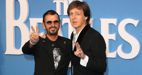 Paul McCartney y Ringo Starr. Foto: Getty Images