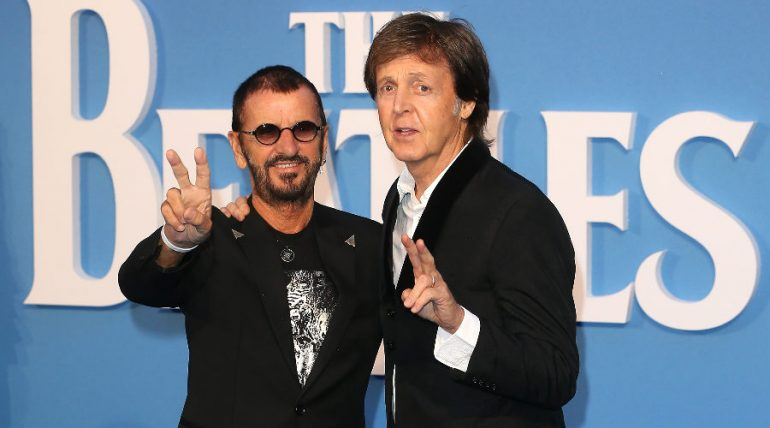 Paul McCartney y Ringo Starr. Foto: Getty Images
