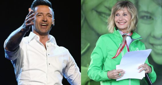 Hugh Jackman, Olivia Newton-John. Fotos: Getty Images