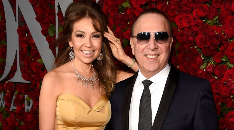 Thalía, Tommy Mottola. Foto: Getty Images