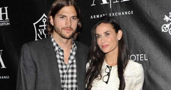 Ashton Kutcher y Demi Moore. Foto: Getty Images