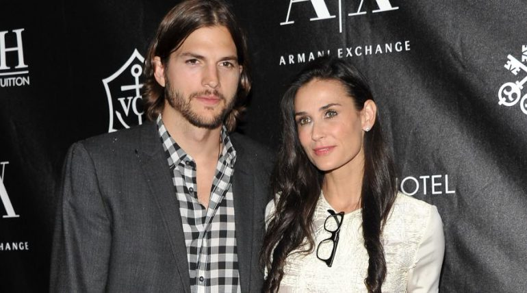 Ashton Kutcher y Demi Moore. Foto: Getty Images