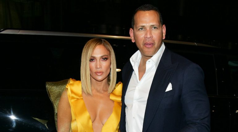 Jennifer Lopez y Alex Rodríguez. Foto: Getty Images