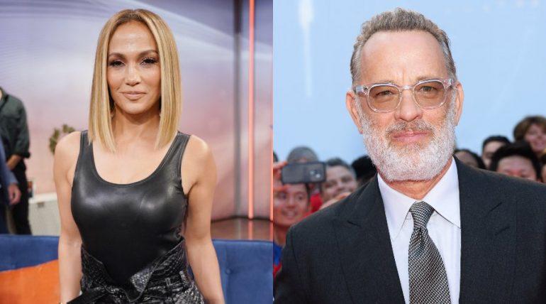 Jennifer Lopez y Tom Hanks. Foto: Getty Images