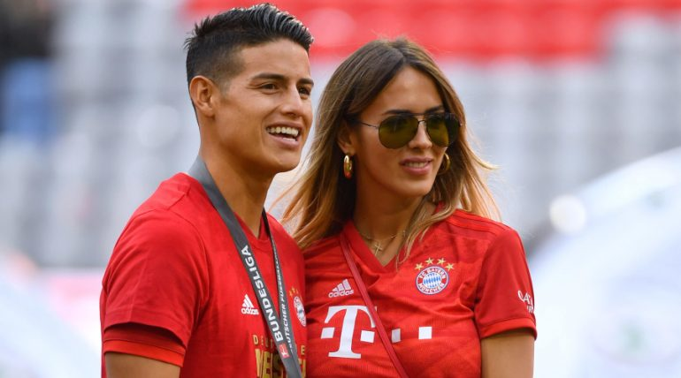 James Rodríguez y Shannon de Lima. Foto: The Grosby Group