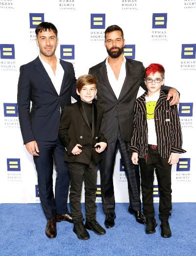 Ricky Martin, Jwan Yosef, Valentino y Matteo. Foto: Getty Images