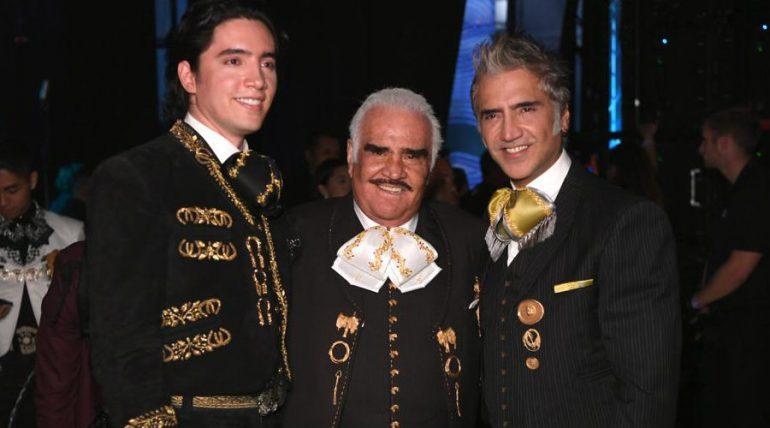 Alex, Vicente y Alejandro Fernández. Foto: Getty Images