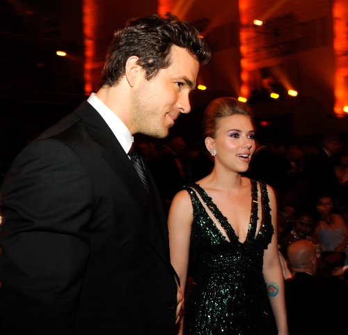 Scarlett Johansson y Ryan Reynolds. Foto: Getty Images