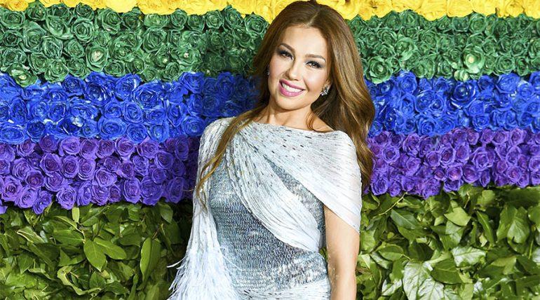 Thalía sorprende al poner Árbol de Navidad en plena celebración de Halloween - Getty