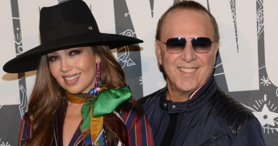 Thalía y Tommy Mottola. Foto: Getty Images